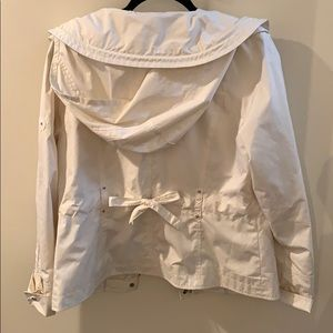 Cole Haan Jackets & Coats - Cole Haan ivory stunning rain jacket with hood
